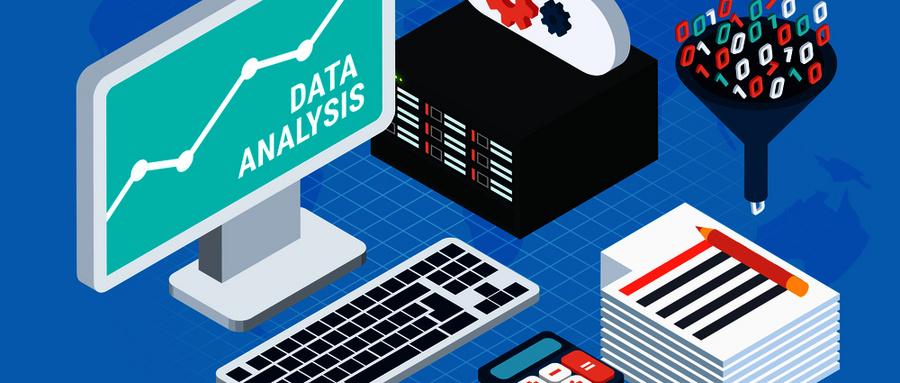 摄图网_300911622_wx_大数据分析等距与计算机与云服务器的用户工作场所矢量插图大数据分析等距(企业商用).jpg